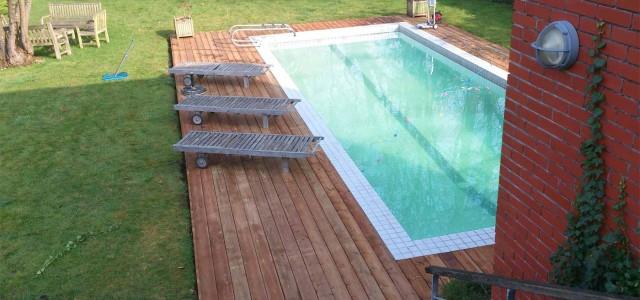 Plage piscine bois essonne