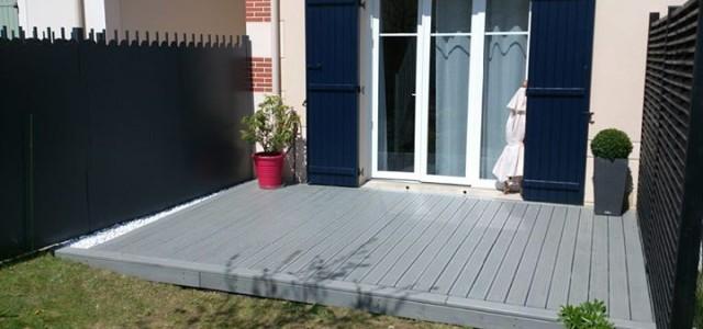 Terrasse bois composite béton essonne