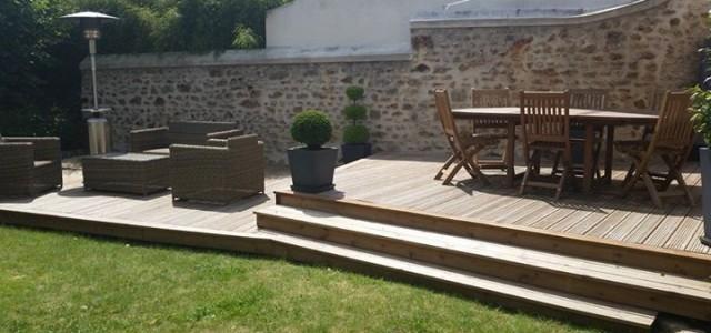 Terrasse bois jardin essonne